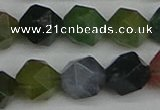 CNG7343 15.5 inches 12mm faceted nuggets Indian agate beads