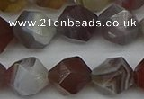 CNG7348 15.5 inches 12mm faceted nuggets botswana agate beads