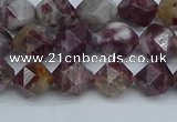 CNG7410 15.5 inches 6mm faceted nuggets tourmaline beads
