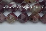 CNG7411 15.5 inches 8mm faceted nuggets tourmaline beads