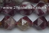 CNG7413 15.5 inches 12mm faceted nuggets tourmaline beads