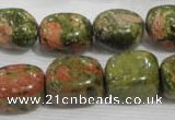 CNG742 15.5 inches 15*18mm nuggets unakite beads wholesale