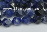 CNG7435 15.5 inches 6mm faceted nuggets sodalite gemstone beads