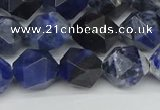 CNG7437 15.5 inches 10mm faceted nuggets sodalite gemstone beads