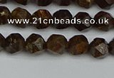 CNG7440 15.5 inches 6mm faceted nuggets bronzite gemstone beads