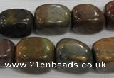 CNG745 15.5 inches 15*18mm nuggets tree agate beads wholesale
