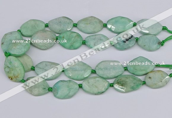 CNG7464 15.5 inches 20*25mm - 25*35mm faceted freeform amazonite beads