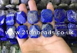 CNG7481 15.5 inches 18*25mm - 20*28mm faceted freeform lapis lazuli beads