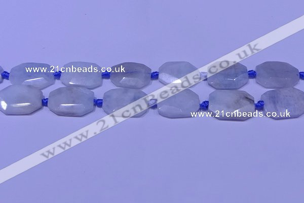 CNG7520 15.5 inches 18*25mm - 25*35mm faceted freeform aquamarine beads