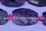 CNG7525 15.5 inches 18*25mm - 25*35mm faceted freeform tourmaline beads