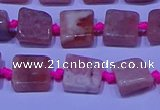 CNG7544 15.5 inches 6*8mm - 10*12mm freeform rhodochrosite beads