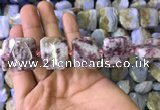 CNG7565 18*25mm - 20*28mm faceted freeform pink tourmaline beads