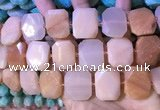 CNG7566 18*25mm - 20*28mm faceted freeform opal gemstone beads