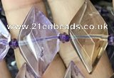 CNG7702 15.5 inches 13*20mm - 15*25mm faceted freeform ametrine beads