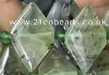 CNG7703 15.5 inches 13*20mm - 15*25mm faceted freeform prehnite beads