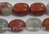 CNG773 15.5 inches 13*18mm nuggets blood stone beads wholesale