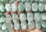 CNG7753 13*18mm - 15*25mm faceted freeform light prehnite beads