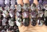 CNG7759 13*18mm - 15*25mm faceted freeform tourmaline beads