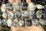 CNG7771 13*18mm - 15*25mm faceted freeform white opal beads