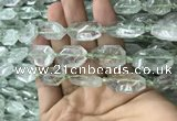 CNG7803 13*18mm - 18*25mm faceted freeform green quartz beads