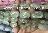 CNG7804 15.5 inches 13*18mm - 18*25mm faceted freeform prehnite beads