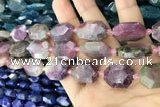 CNG7809 15.5 inches 13*18mm - 18*25mm faceted freeform tourmaline beads
