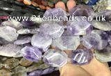 CNG7865 22*30 - 28*35mm faceted freeform lavender amethyst beads