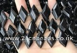 CNG7897 13*20mm - 15*25mm faceted freeform black tourmaline beads