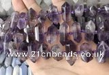 CNG7930 15.5 inches 8*22mm - 12*30mm faceted nuggets amethyst beads