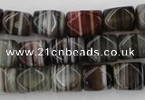 CNG801 15.5 inches 8*12mm faceted nuggets agate gemstone beads