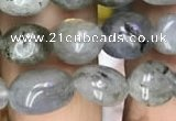CNG8019 15.5 inches 6*8mm nuggets labradorite gemstone beads