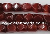 CNG802 15.5 inches 9*12mm faceted nuggets red agate gemstone beads