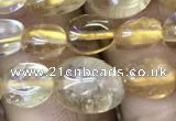 CNG8034 15.5 inches 6*9mm nuggets citrine beads wholesale