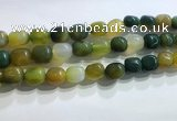 CNG8157 15.5 inches 10*14mm nuggets agate beads wholesale