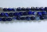 CNG8189 15.5 inches 10*14mm nuggets striped agate beads wholesale