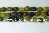 CNG8217 15.5 inches 12*16mm nuggets agate beads wholesale