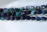 CNG8283 15.5 inches 13*18mm nuggets striped agate beads wholesale