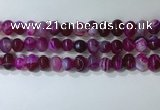 CNG8345 15.5 inches 10*12mm nuggets striped agate beads wholesale