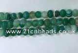 CNG8349 15.5 inches 10*12mm nuggets striped agate beads wholesale
