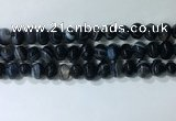 CNG8353 15.5 inches 10*12mm nuggets striped agate beads wholesale