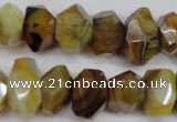 CNG851 15.5 inches 12*18mm – 13*22mm faceted nuggets agate beads
