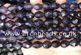CNG8518 15.5 inches 8*10mm - 10*14mm faceted nuggets amethyst beads