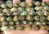 CNG8539 15.5 inches 8*10mm - 9*13mm faceted nuggets rhyolite beads