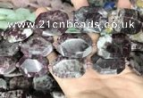 CNG8560 22*30mm - 25*35mm faceted freeform tourmaline beads