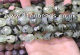 CNG8567 12*16mm - 15*20mm faceted nuggets green rutilated quartz beads