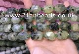 CNG8582 13*18mm - 15*20mm faceted nuggets green rutilated quartz  beads