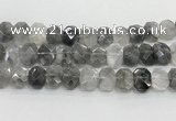 CNG8612 10*13mm - 12*16mm faceted freeform cloudy quartz beads