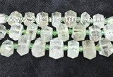 CNG8676 12*20mm - 20*33mm faceted nuggets green quartz beads