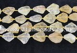 CNG8679 15.5 inches 15*20mm - 23*30mm freeform citrine beads