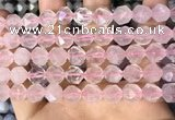 CNG8692 15.5 inches 10mm faceted nuggets rose quartz beads